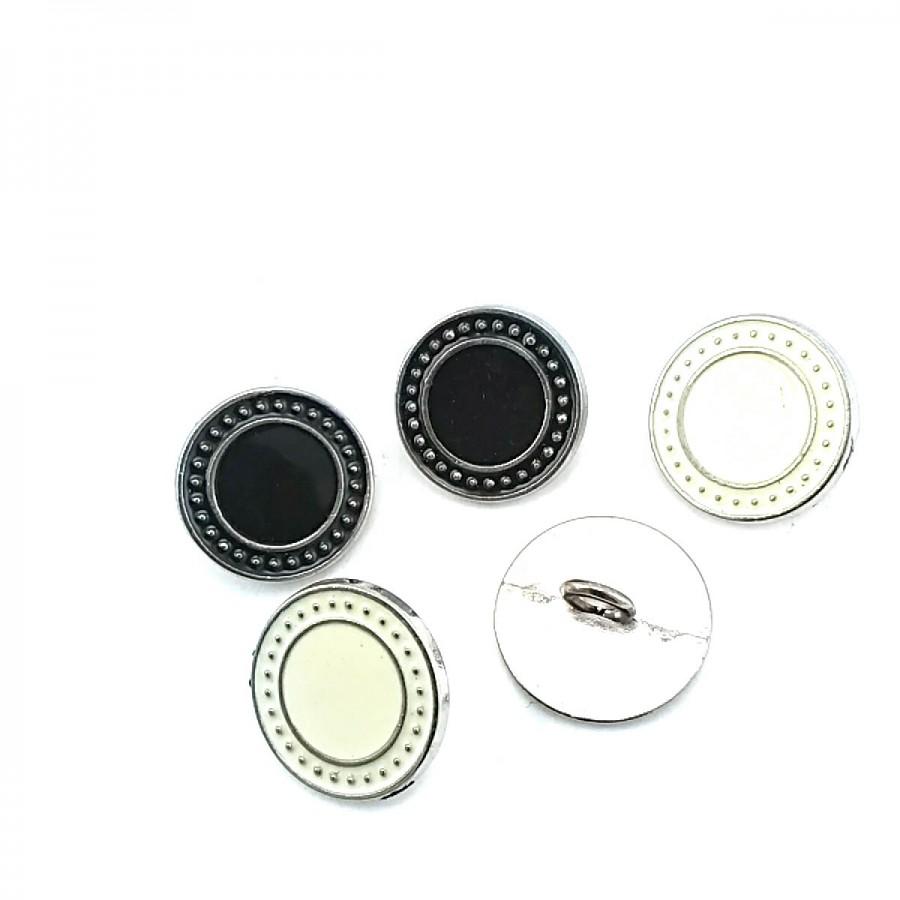 Ayaklı Düğme Kenarları Noktalı Sade 17 mm - 27 Boy D 0003