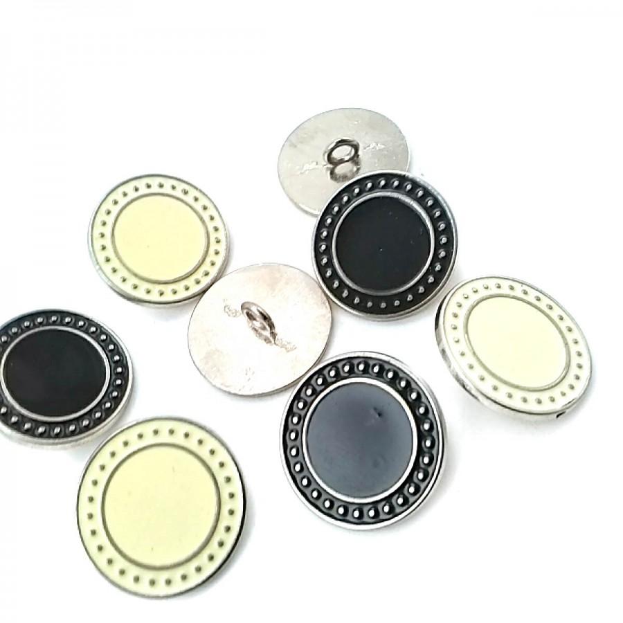 Mineli Ayaklı Düğme Kenarları Noktalı 22 mm - 36 Boy D 0004