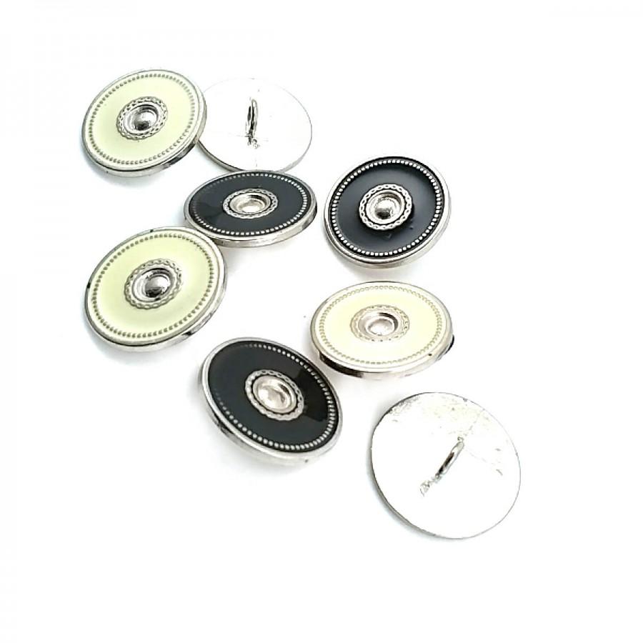 Ayaklı Düğme Kenarları  ve Ortası Desenli 23 mm - 37 Boy D 0005