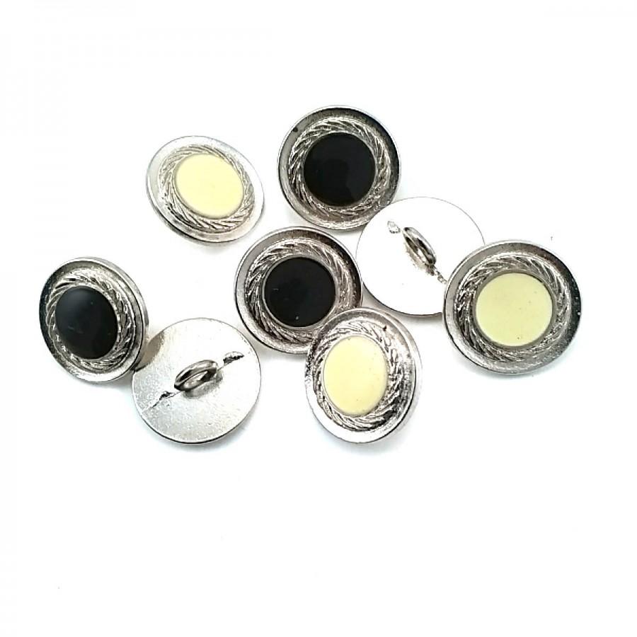 Ayaklı Düğme Kenarları Desenli Ortası Mineli 16 mm - 26 Boy D 0008