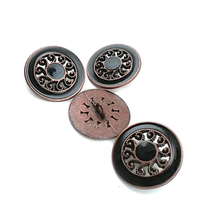Vintage Görünümlü Metal Ayaklı Düğme 25 mm - 40 Boy D 0011