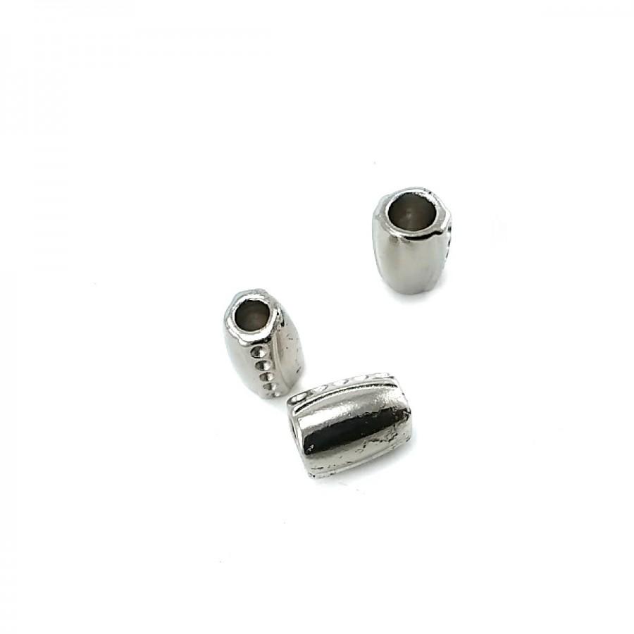 Lux Tasarımlı Metal Bağ ucu boy 10 mm giriş 7 mm B0003