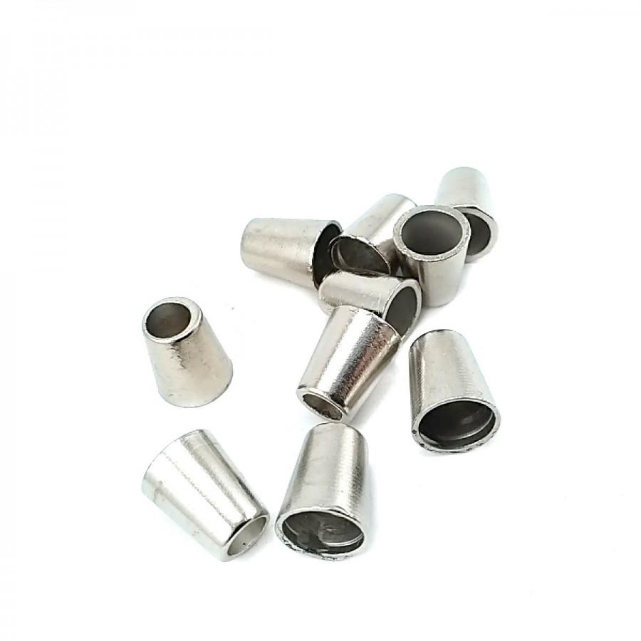 Sade Tasarımlı Metal Bağ ucu boy 9 mm giriş 7 mm B0004