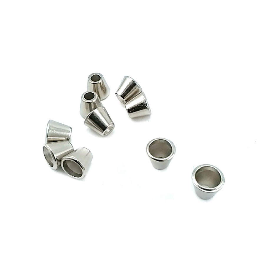 Konik Tasarımlı Metal Bağ ucu boy 9 mm giriş 6 mm B0005