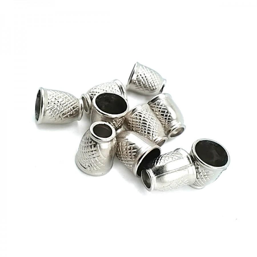 Desenli Ve Estetik Tasarımlı Metal Bağ ucu boy 11 mm giriş 6 mm B0006