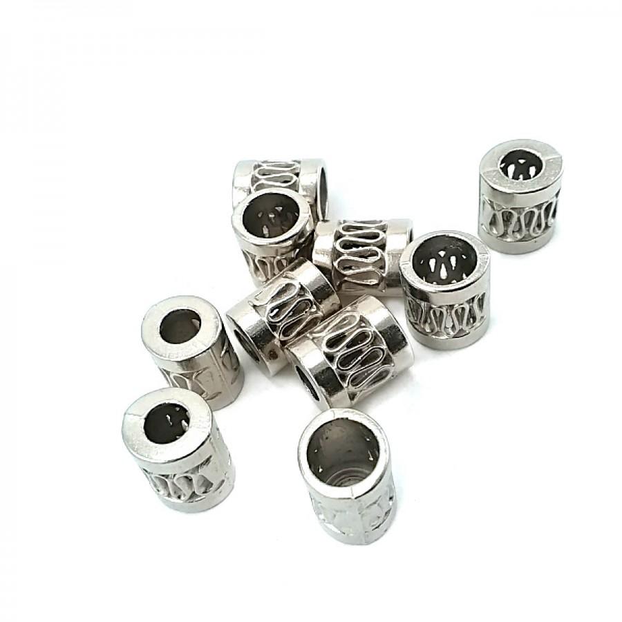 Zıkzak Delikli Metal Bağ ucu boy 11 mm giriş 7 mm B0008