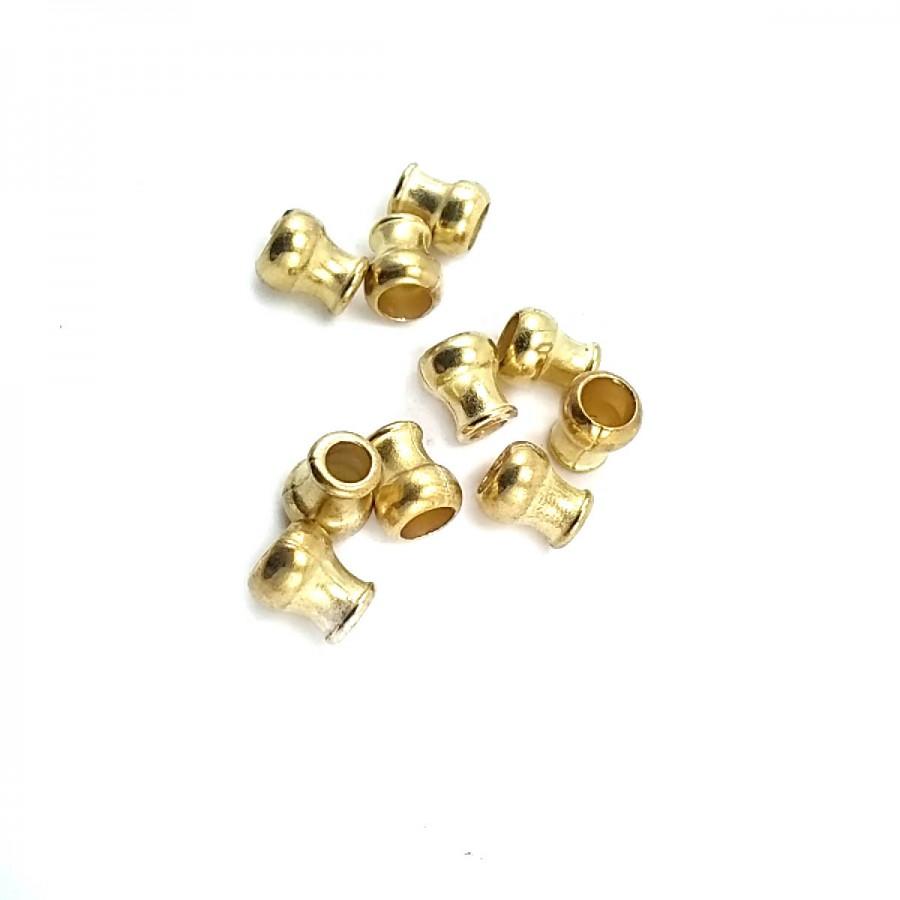 Altın Renkli Metal Bağ ucu boy 8 mm giriş 5 mm B0009