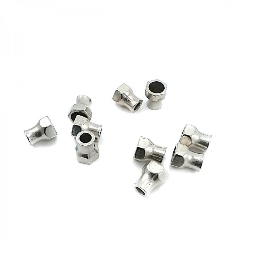 Somun Tasarımlı  Metal Bağ ucu boy 9 mm giriş 5 mm B0011