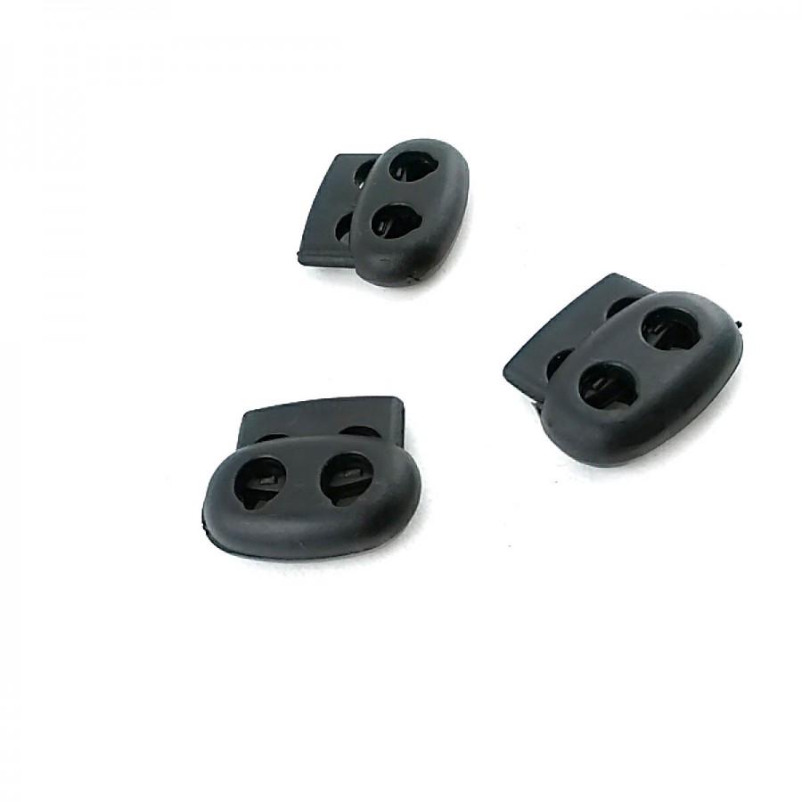 Plastik 2 Delikli Stoper 7 mm delik çapı 19 x 22 mm boylu  B0015
