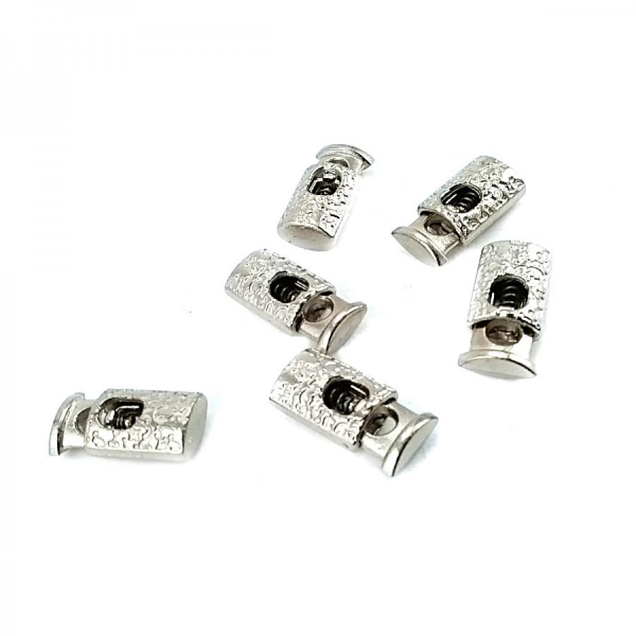 Tek Delikli Desenli  Metal Stoper 19 mm boylu 4 mm delik çaplı  B0023