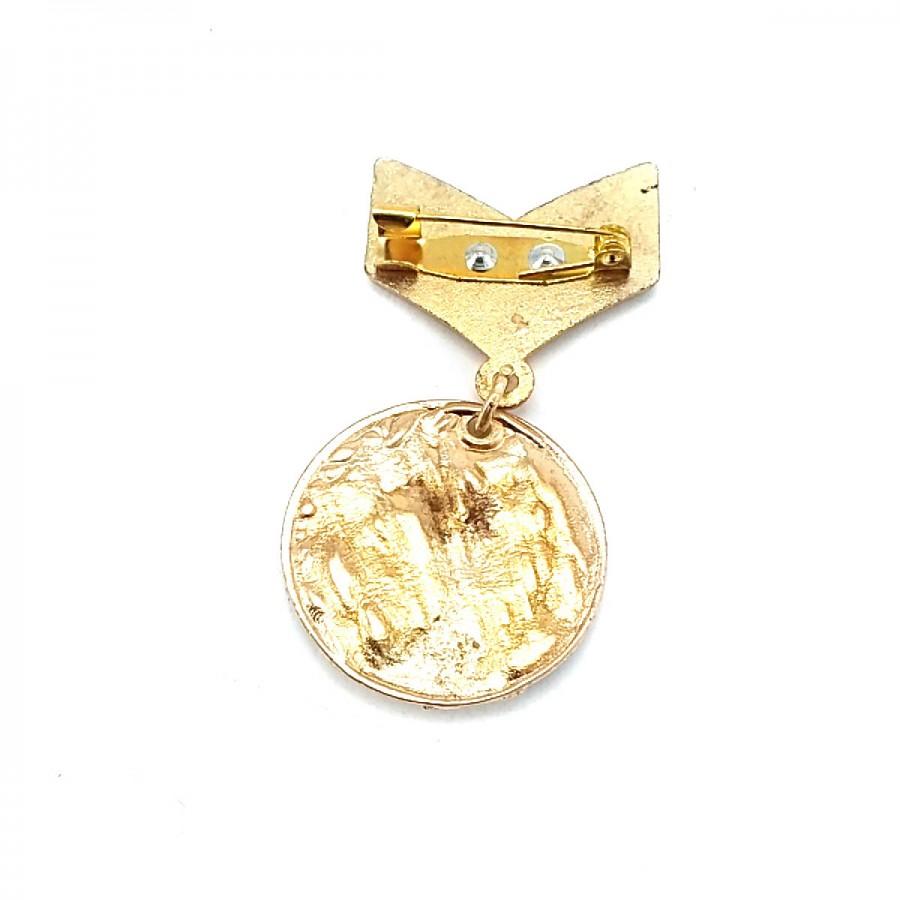 Madalya Broş - Madam Zi - Siyah Mineli Broş BRS0005