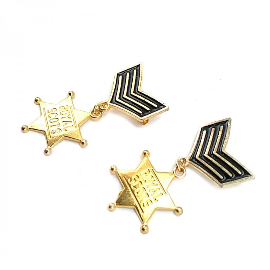 Yıldız Şekil Altın Renk Madalya Tipi Broş BRS0010