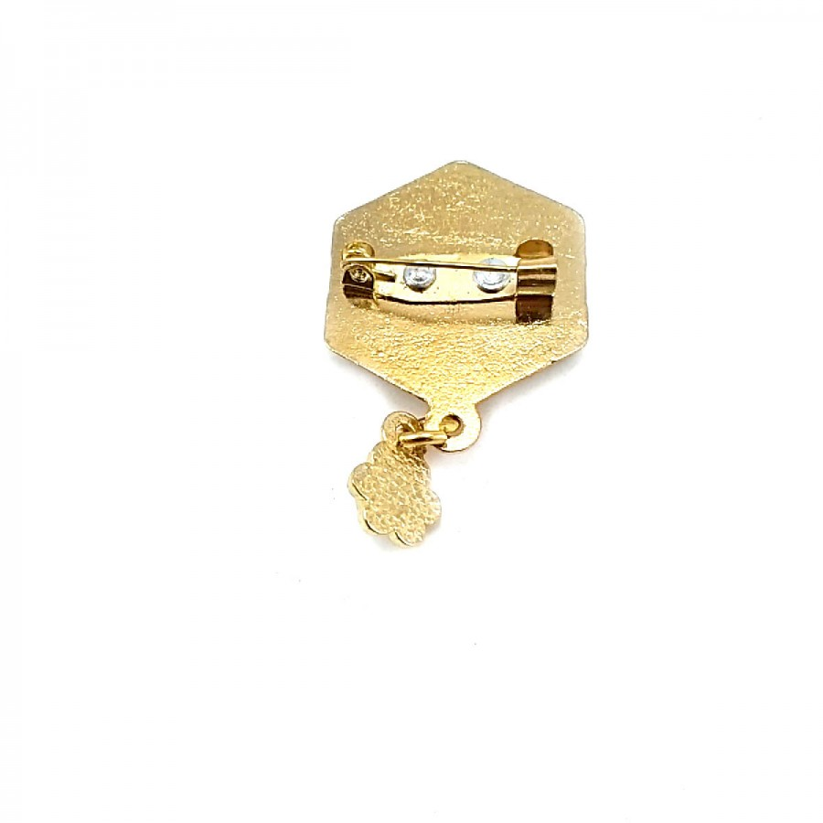 Taşlı Altın Rengi Şık Broş BRS0021
