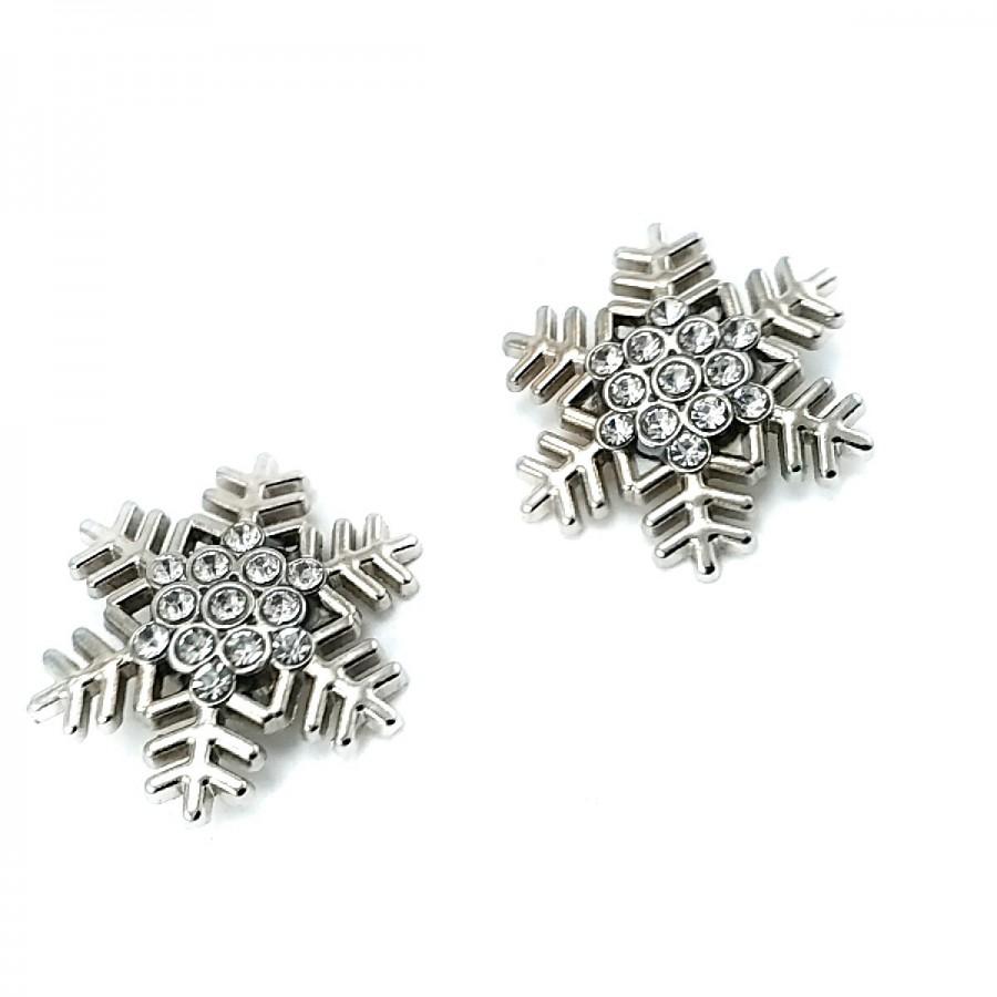 Kar Tanesi Modelli Gümüş Renk Metal Broş BRS0038