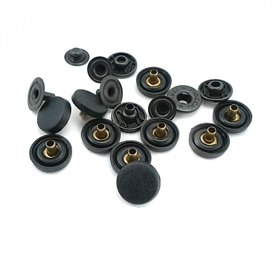 Siyah Plastik Çıtçıt Düğme 12 mm 20 boy C0007