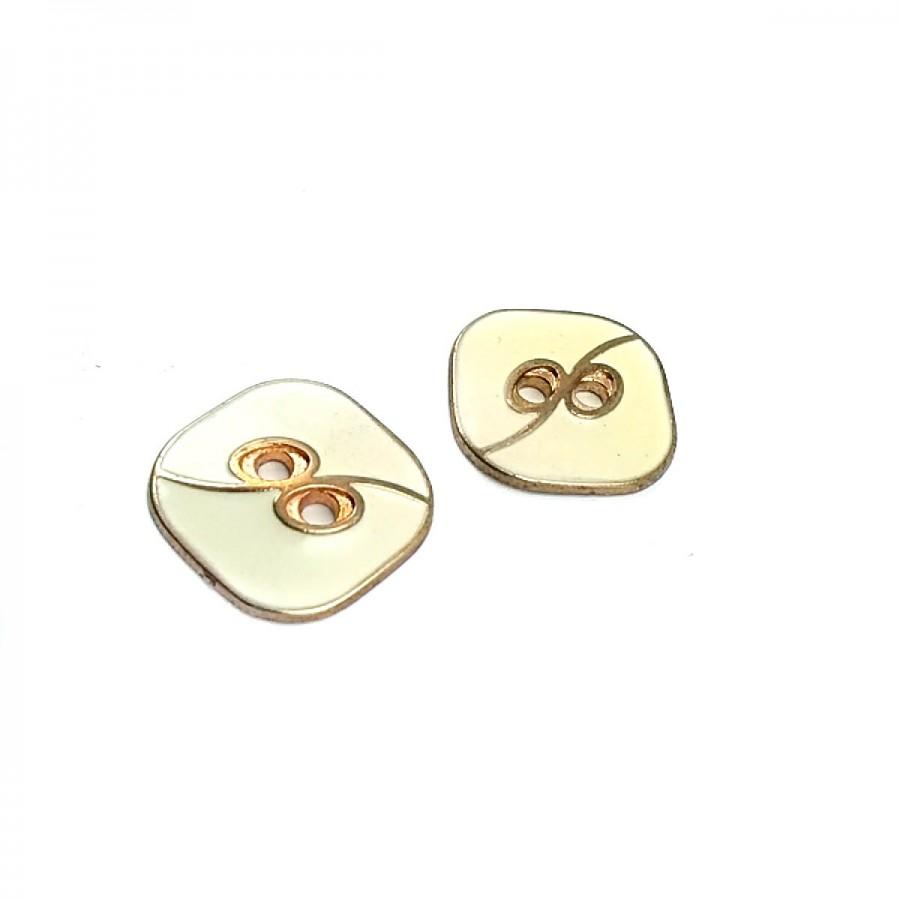 Kare Mineli İki Delikli Düğme 25 mm - 40 Boy D 0020