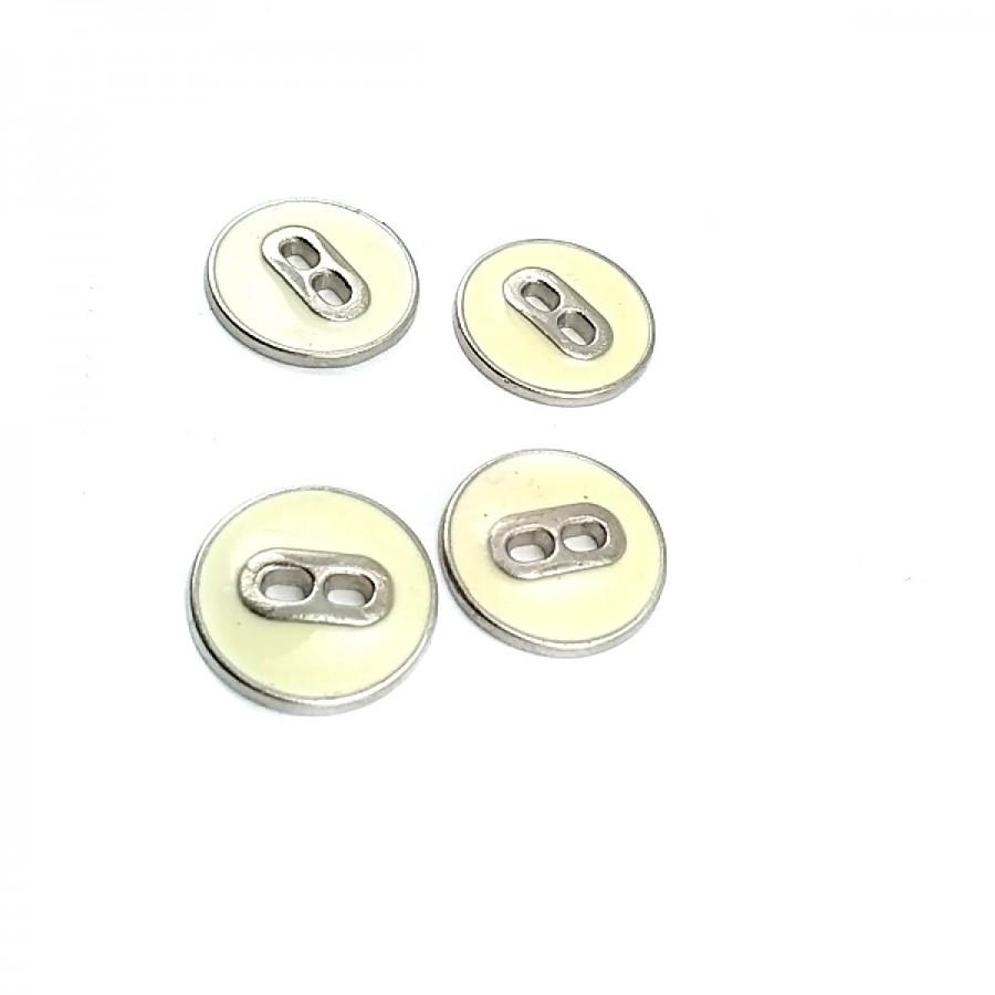 Mineli İki Delikli Sade Düğme 17 mm - 27 Boy D 0021