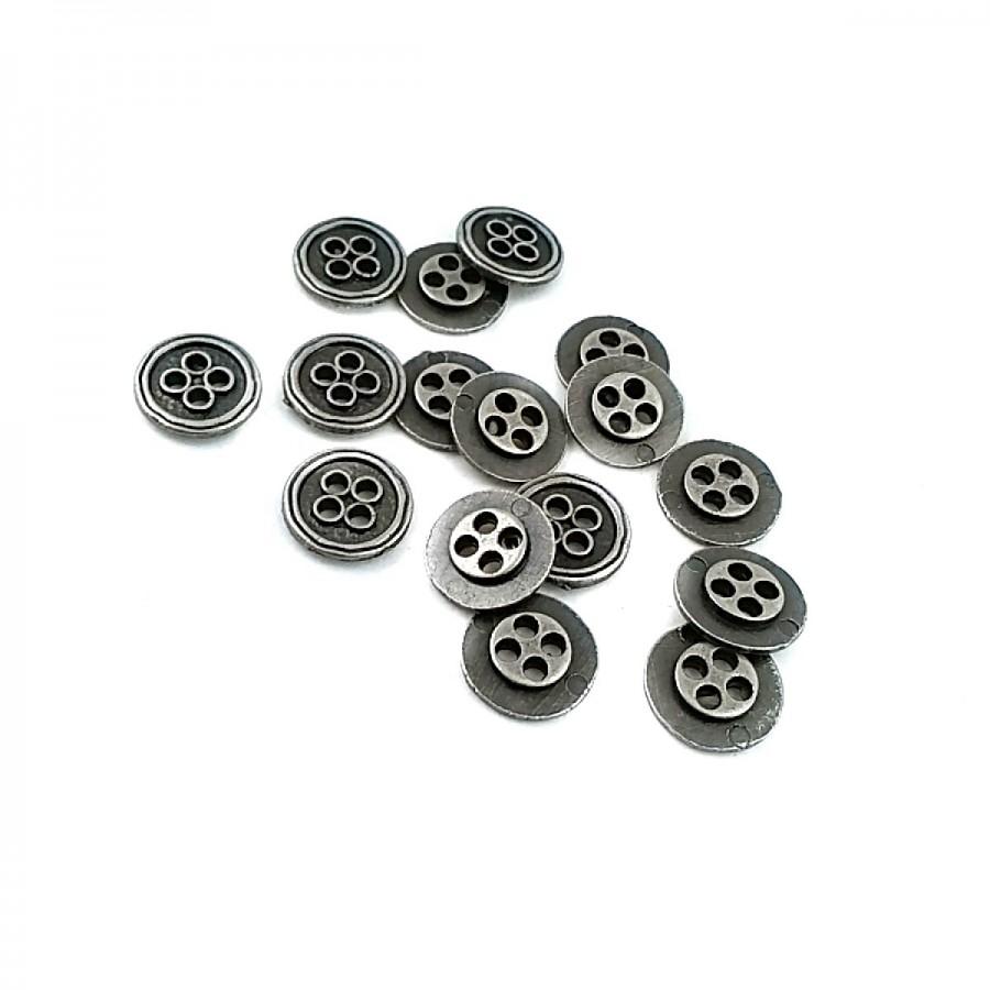 Metal Dört Delikli Düğme 13 mm - 21 Boy D 0026