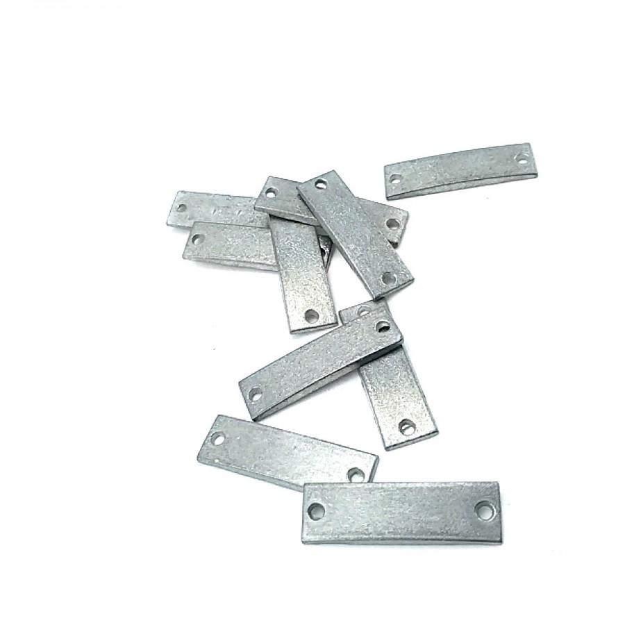 25 mm x 7 mm Metal Etiket E0001