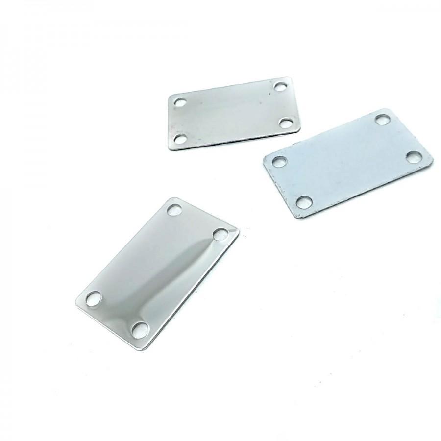 Metal 30 x 18 mm Etiket T0026