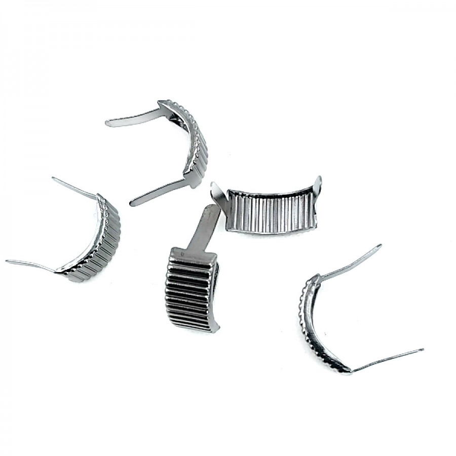 17.5 x 8.5 mm Çizgili Metal Fiyonk F0008
