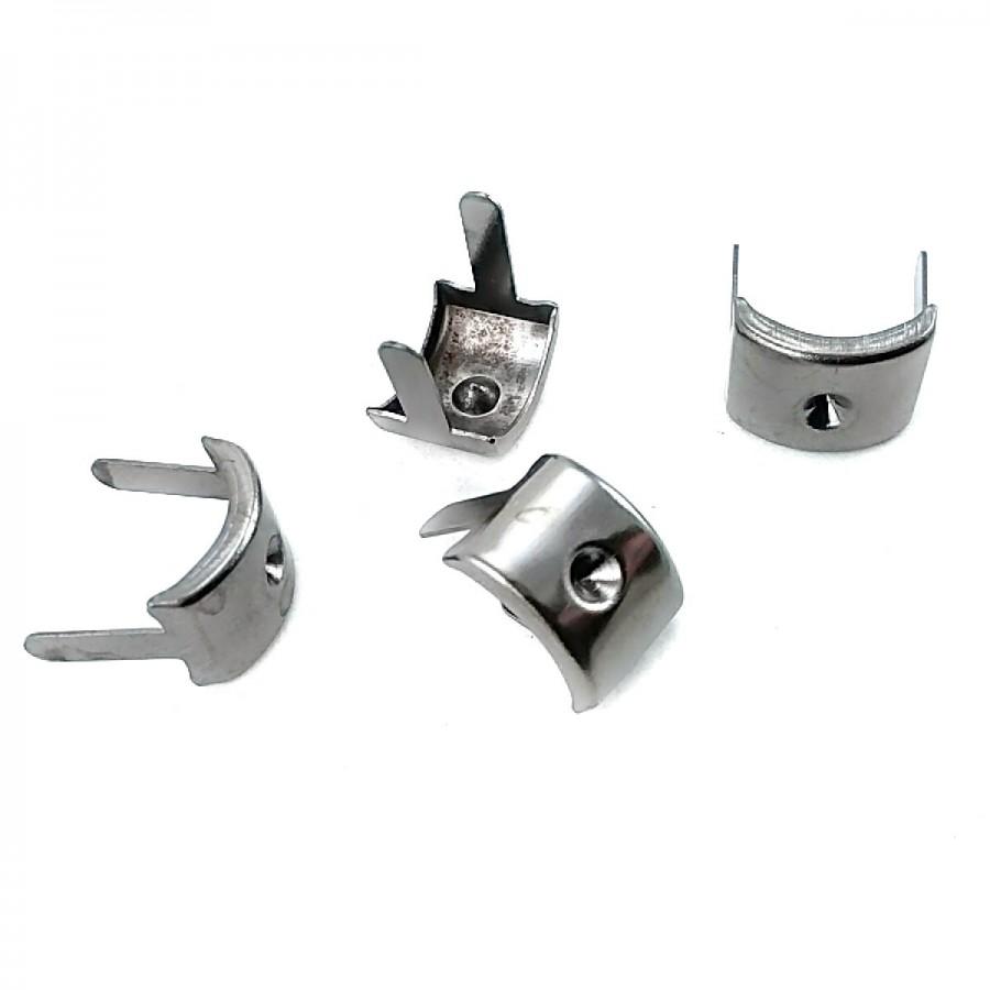 13 x 10 mm Taş Delikli Oval Metal Fiyonk F0012