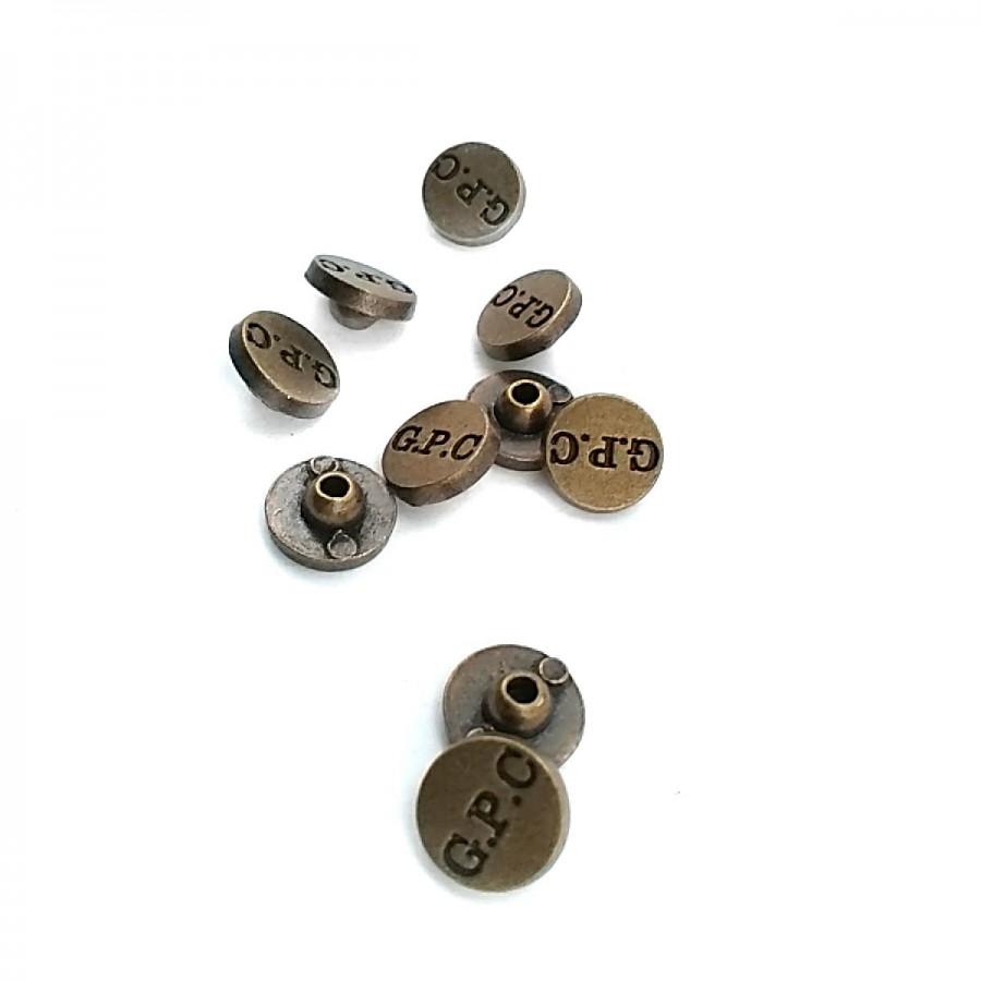 """"""" G.P.C """" Yazılı Metal Rivet - Perçin 10 mm 16 boy R0002"""