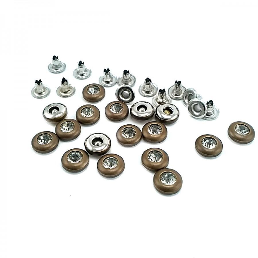 Cam Taşlı Sade Rivet 9 mm 14 boy ( 250 Ad/Paket ) R0014