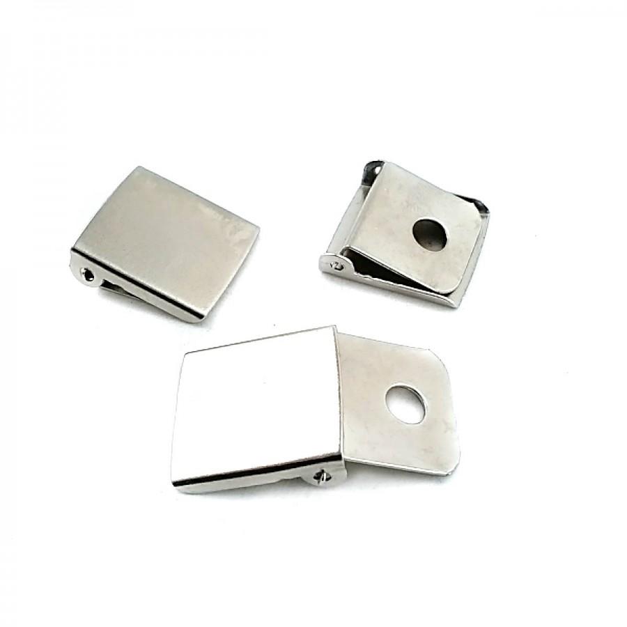 20 mm Metal Kıstırmalı Klips T0005